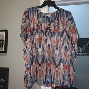 Colorful women's blouse